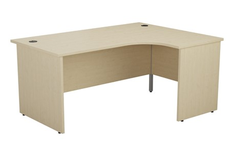 Hawk Maple Panel Crescent Workstation