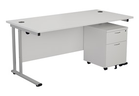 Kestral White Promo Desk And Pedestal