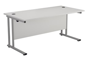 Kestral White Rectangular Cantilever Desk