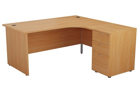 Kestral Corner Panel Desk And Pedestal