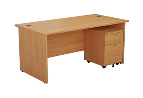 Kestral Panel Promo Desk And Pedestal