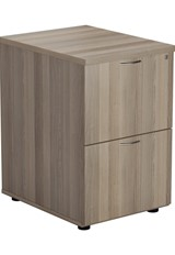 Kestral Grey Oak 2 Drawer Filing Cabinet