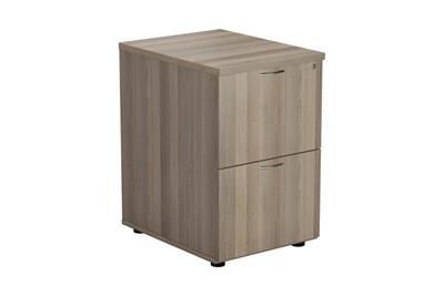 Kestral Grey Oak 2 Drawer Filing Cabinet