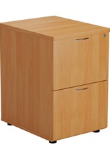 Hawk 2 Drawer Filing Cabinet - Beech