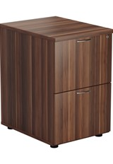 Kestral Dark Walnut 2 Drawer Filing Cabinet