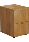 Kestral Light Walnut 2 Drawer Filing Cabinet