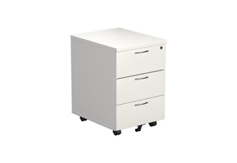 Kestral White 3 Drawer Mobile Pedestal