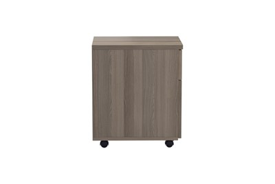 Kestral Grey Oak 2 Drawer Mobile Pedestal