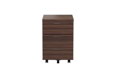 Kestral Dark Walnut 3 Drawer Mobile Pedestal