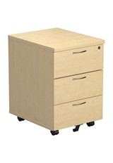 Kestral Maple 3 Drawer Mobile Pedestal