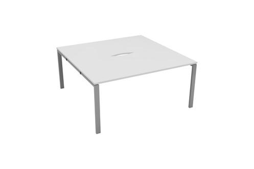 Kestral White 2 Person Double Bench Desk