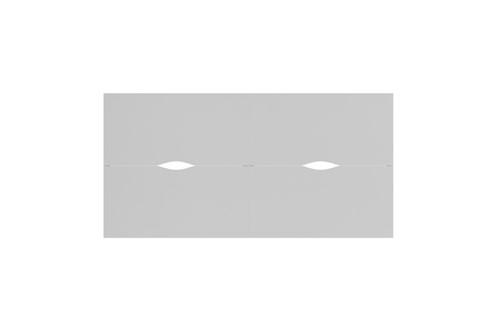 Kestral White 4 Person Double Bench Desk