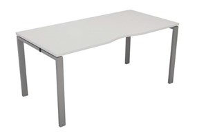 Kestral White 1 Person Single Bench Desk