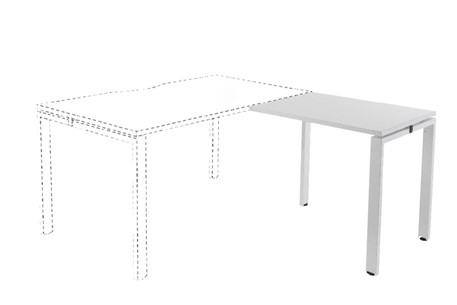 Kestral White Return Bench Desk