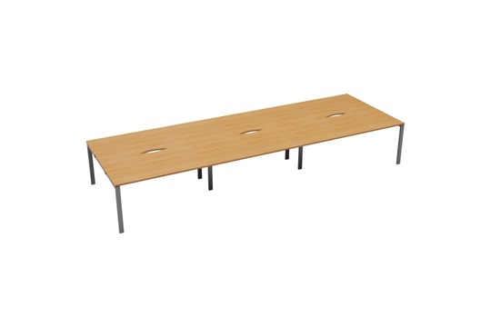 Kestral 6 Person Double Bench Desk