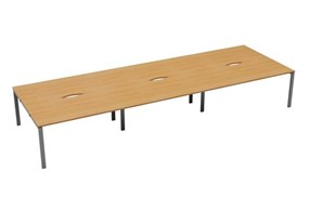 Kestral 6 Person Double Bench Desk