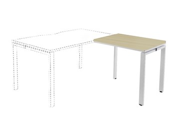 Hawk Maple Return Bench Desk - 800mm White