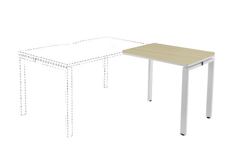 Kestral Maple Return Bench Desk