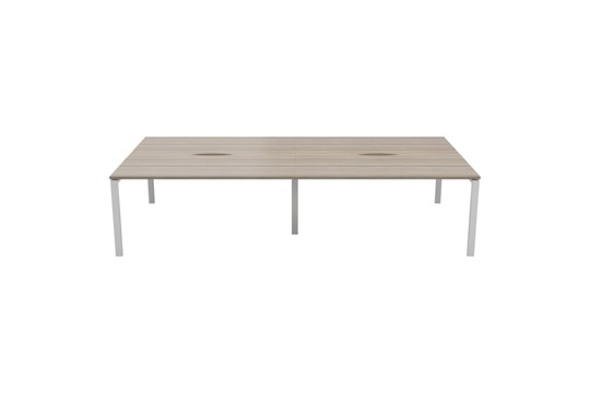 Kestral Grey Oak 4 Person Double Bench Desk