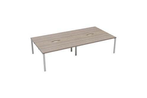 Kestral Grey Oak 4 Person Double Bench Desk