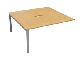 Hawk 2 Person Bench Extension - 1200mm Beech Silver
