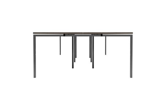 Kestral Grey Oak 8 Person Double Bench Desk