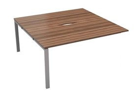 Kestral Dark Walnut 2 Person Bench Desk