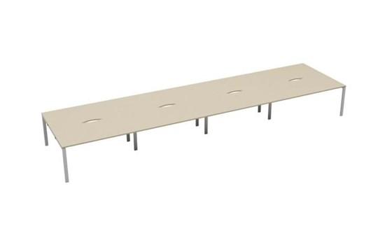 Kestral Maple 8 Person Double Bench Desk