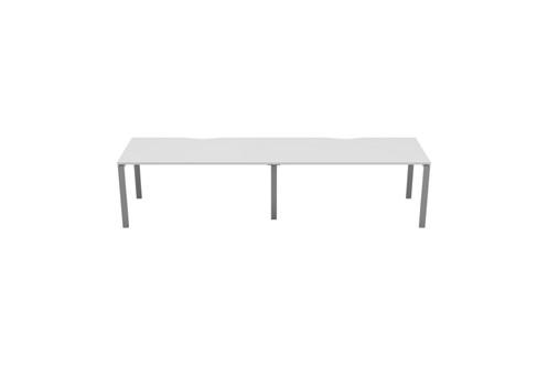 Kestral White 2 Person Single Bench Desk