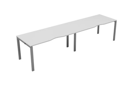 Kestral White Single 2 Person Bench Desk