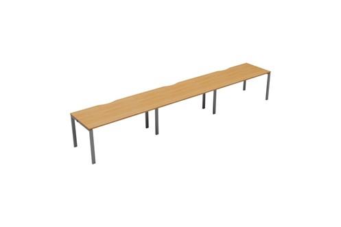 Kestral 3 Person Single Bench Desk