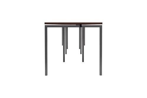 Kestral Dark Walnut 4 Person Single Bench Desk