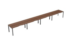Kestral Dark Walnut Single 4 Person Bench Desk