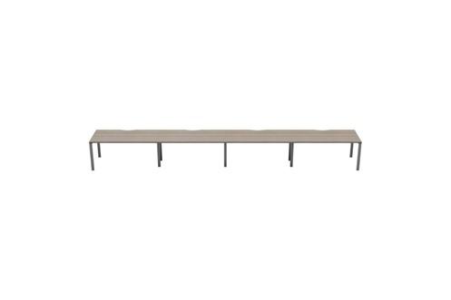 Kestral Grey Oak 4 Person Single Bench Desk