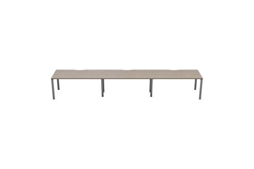 Kestral Grey Oak 3 Person Single Bench Desk