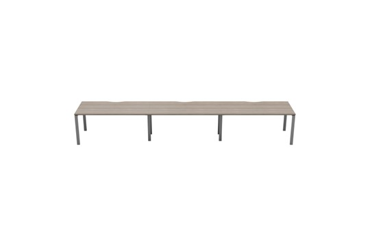 Kestral Grey Oak 3 Person Single Bench Desk