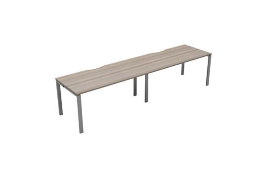 Kestral Grey Oak 2 Person Single Bench Desk
