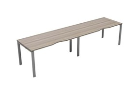 Kestral Grey Oak Single 2 Person Bench Desk