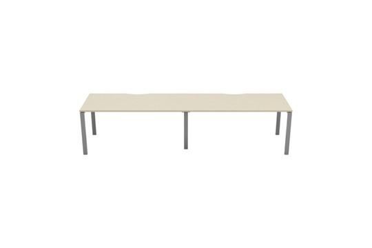 Kestral Maple 2 Person Single Bench Desk