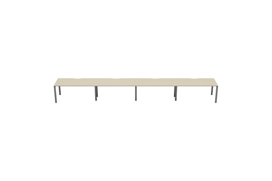 Kestral Maple 4 Person Single Bench Desk
