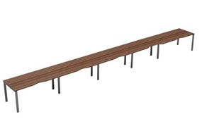 Kestral Dark Walnut 5 Person Single Bench Desk