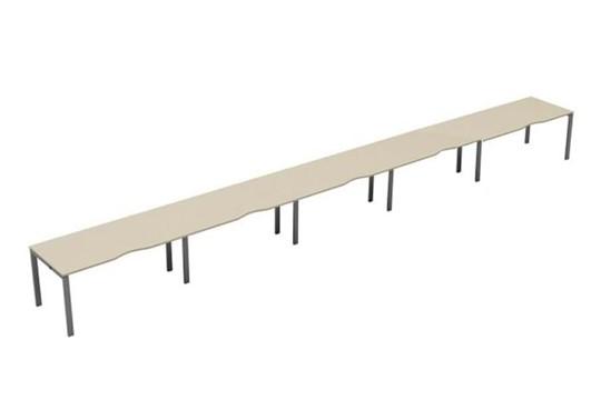 Kestral Maple 5 Person Single Bench Desk