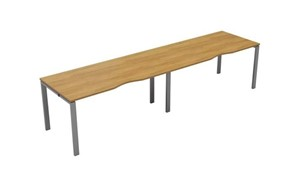 Kestral Light Walnut Single 2 Person Bench Desk