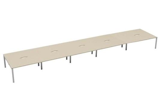 Kestral Maple 10 Person Double Bench Desk