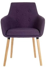 Alesto Reception Chair - Plum