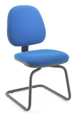 Calypso Visitor Chair - Blue No Arm