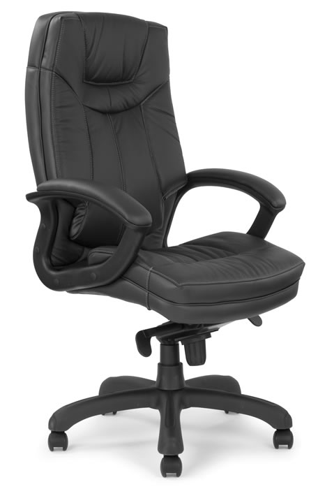 cream comfy chair brompton comfy cuhsioned leather executive office chair 13595 | brompton black 1