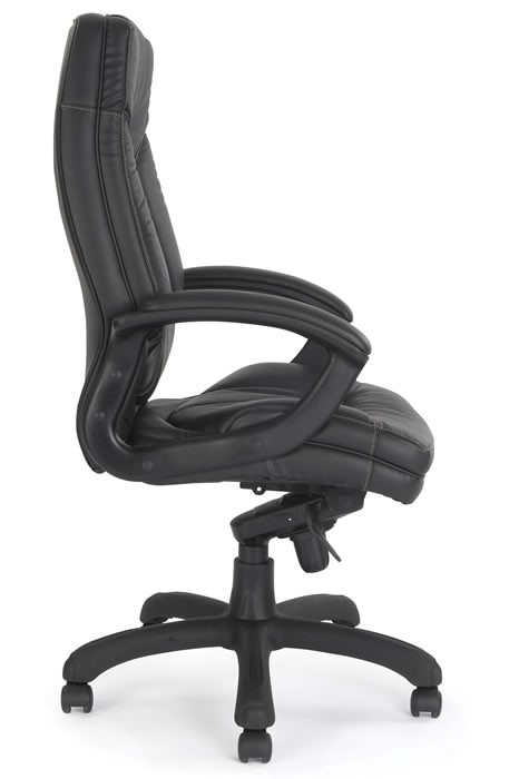 cream comfy chair brompton comfy cuhsioned leather executive office chair 13595 | brompton black 2