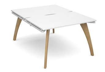 Fuze Back To Back Desk - 1200 x 800 x 725mm White / White Edge