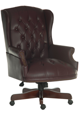 Chairman - Large Traditional Executive Leather Office Chair - Burgundy